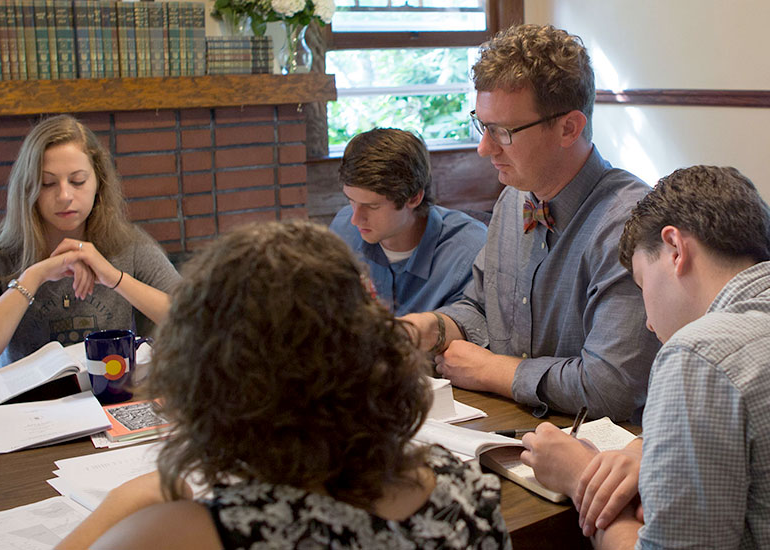 George Fox biblical studies majors use Scripture as the basis for their education.
